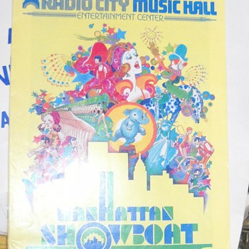 Showboat - Radio City Music Hall Playbill and an invitation to dinner from President Jimmy Carter