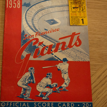 SF Giants Program - First MLB game on the West Coast - April 15, 1958 - Baseball