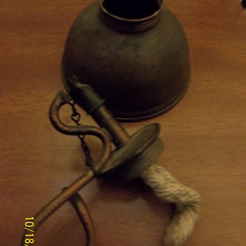 Oil lamp? Very primitive.