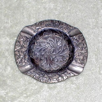 Pewter Ashtray - Occupied Japan