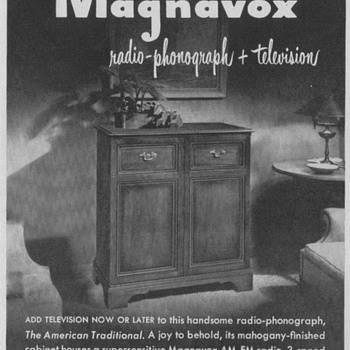 1950 - Magnavox Cabinet Television Advertisements - Advertising