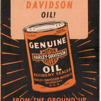 Harley Davidson Oil Advertisement Brochure - Advertising