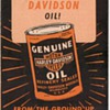 Harley Davidson Oil Advertisement Brochure