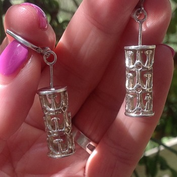 Finnish Silver Earrings - Fine Jewelry