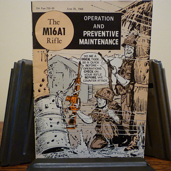 M16A1 Instruction Booklet - Military and Wartime