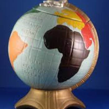Globe Cookie Jar - Pottery