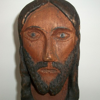 Antique Folk Art Jesus collection Jim Linderman