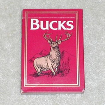 Bucks Cigarettes Playing Cards - Cards