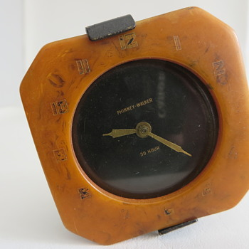 Phinney-Walker String Wind Car Clock