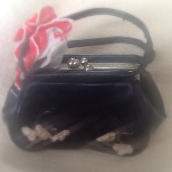 Tiny patent leather purse