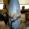 Michel Owl vase. 18&quot; tall! 1920&#039;s-30&#039;s