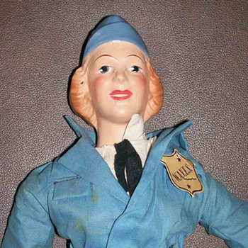 Wav Military doll by Ralph Freundlich WWII 1940's  - Dolls