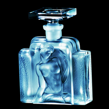 "Art Deco Crystal Perfume ""Flacon Nude"" by Ingrid, Czechoslovakia - Art Deco"