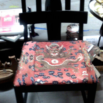 Beautiful Chair with  Dragons & Bats - Asian
