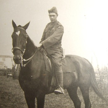 WW1 US Occupation trooper on horseback - Photographs