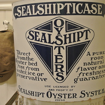 Sealship Oysters Porcelain Sign - Advertising