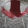 Mid - Century Tubular Red Leather Beauty
