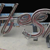 Vintage 1950's COFFEE SHOP Antique Neon Sign / Channel Lettering 2-pieces