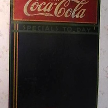 1934 Coca-Cola Menu Board