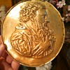 "1801 Brass Relief of Unknown Man-signed ""G.A Collette"""