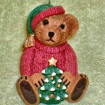 Christmas Teddy Bear Candle