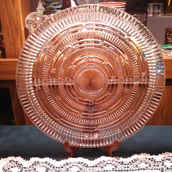 4 Part Relish Trey  - Glassware