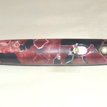 Double Switchblade Schrade Presto With Advertising Embossed on Body