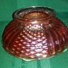 Fenton Golden Sunset (Marigold) Iridescent Diamond Point Column Bowl