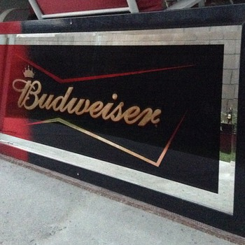 Budweiser Bowtie Limited Edition Back Bar Mirror