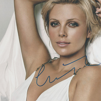 Charlize Theron Authentic Hand-Signed Photo (2011) - Photographs