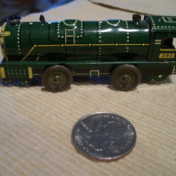 Tiny Tin Litho Clockwork Train - Model Trains