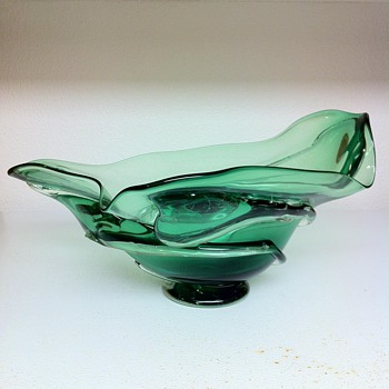 Glass Mountain Studio Freeform Centerpiece Bowl