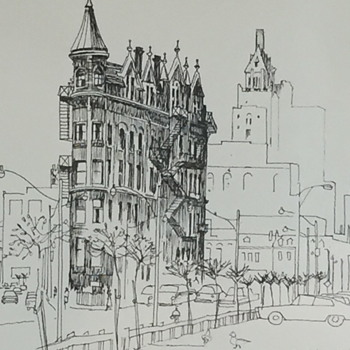 Pen and Ink drawing of downtown Toronto. - Visual Art
