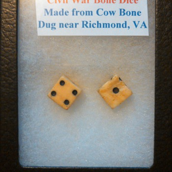 Civil War Bone dice? - Military and Wartime