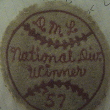 O.M.L. National Div. Winner '57 - Baseball