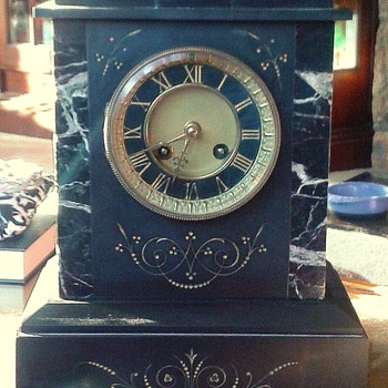 Belgian Slate Mantle Clock