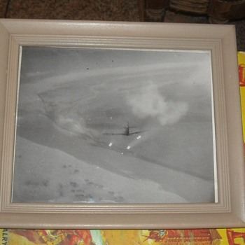 WWII Fighter Plane Firing Rockets Photo