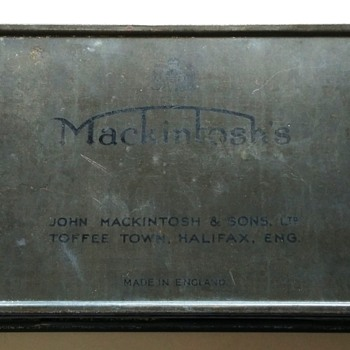 Vintage Mackintosh tin box