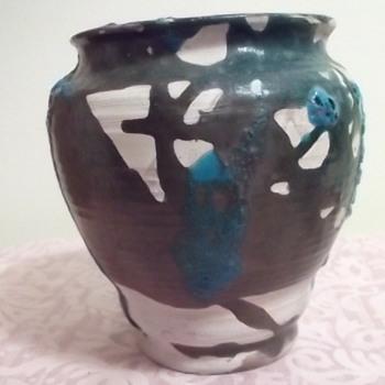 "SIMONE? Pottery Vase & ""KS"" Vase - Art Pottery"