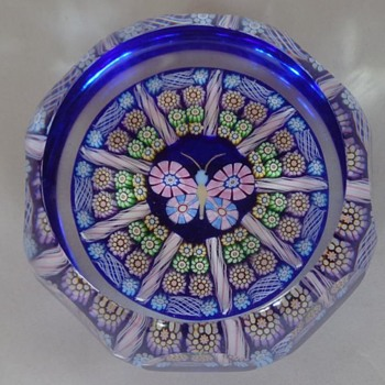 Perthshire Paperweight 1997 Butterfly - Art Glass