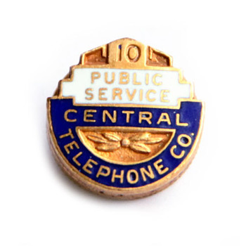 Central Telephone Company Pin - Telephones