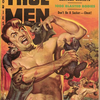 1957 True Men Stories Magazine  - Paper