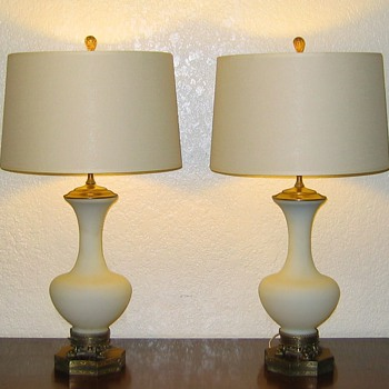 This looks so much like Steuben/Carder - Who made these lamps? - Lamps