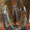 "Erte 'Three Graces"" Bronze Sculpture"