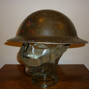 British WWII Royal Navy Volunteer Reserve steel helmet.