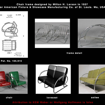 Chair frame designed by Milton H. Larson - Furniture