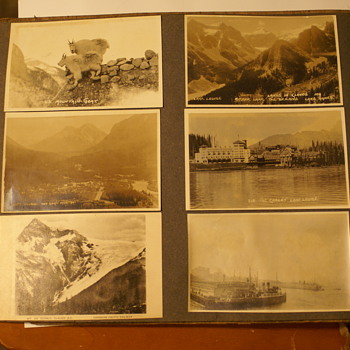 RPPC 1920's Doctors Travel Collection. 6- On Each Side Of  Album Page.