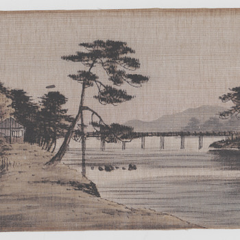 Chinese print on cloth 1870s