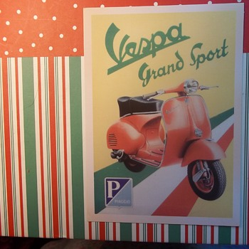 A Motor Scooter Ad. VESPA, GRAND SPORT, Piaggio.