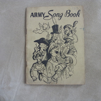 1941 army song book - Books